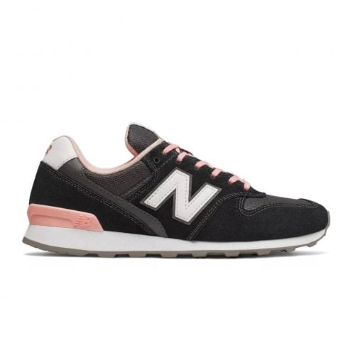 new products 34dfc c40fd New Balance Womens 996 Suede Lace Up Sneakers - Black/Pink