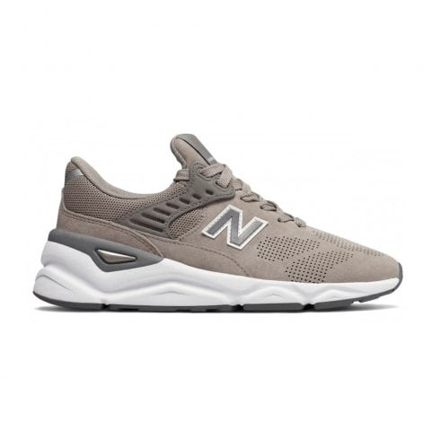 New Balance Womens X-90 Mesh Lace Up Sneakers - Beige/Grey