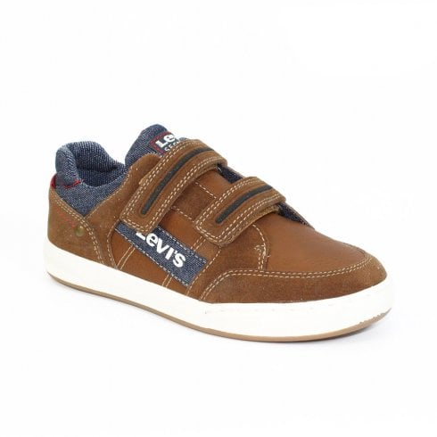 Levi's Junior Boys DCL063 Madison Lo Velcro Trainers - Tan