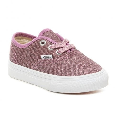 327dc7f03792 Vans Kids Authentic Glitter Infant Trainers - Pink / Millars Shoe Store