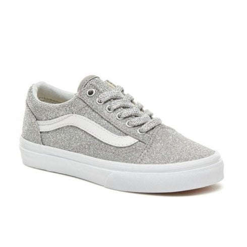 Vans Kids Lurex Glitter Old Skool Shoes - Silver