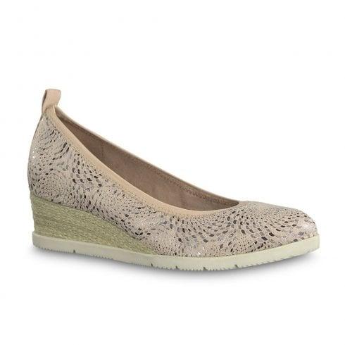 b89a0b6e835d89 Tamaris Dillian Wedge Heeled Pumps - Rose 22381-22   Millars Shoe Store