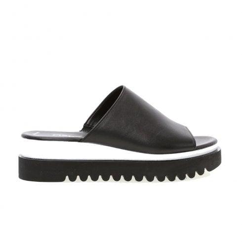 Gabor Platform Blackwhite Ladies Mule Sandals dBCoerx