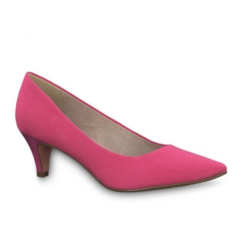 2aa69c143bd3 Tamaris Womens Fatsia Medium Funnel Heel Pumps - Fuxia   Millars Shoe Store