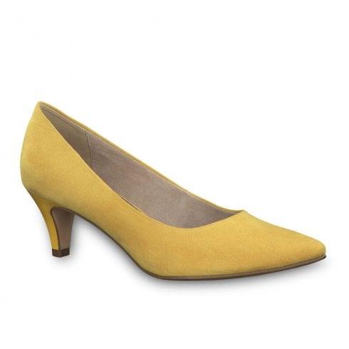 Tamaris Womens Fatsia Medium Funnel Heel Pumps - Yellow