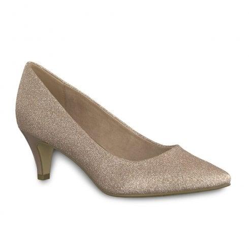 wholesale dealer bd8df 36908 Tamaris Womens Mid Cone Heel Pumps - Rose Glam