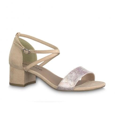 9d2380253da56 Tamaris Elegant Low Heeled Sandals - Rose Flower / Millars Shoe Store