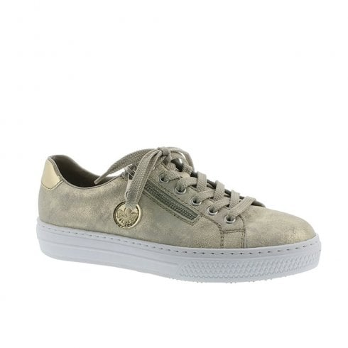 Rieker Womens Lace Up Trainers Shoes - Gold