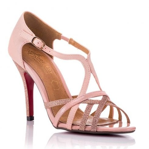 f2463335c Kate Appleby Carlisle Glitter Heeled Strappy Sandals - Blush Sparkle    Millars Shoe Store