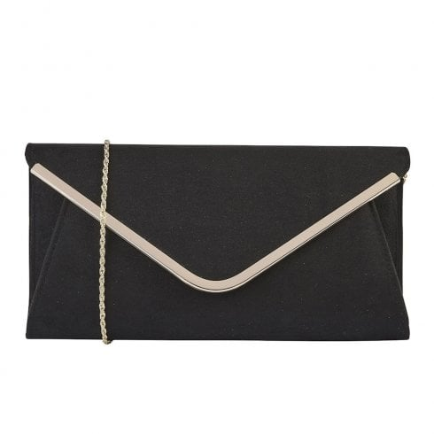 Lotus Sommerton Microfibre Envelope Clutch Bag - Black