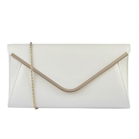 Lotus Sommerton Smooth Envelope Clutch Bag - White