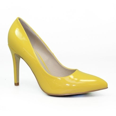 Lunar Powell II Court High Heel Pointed Toe Shoes - Yellow
