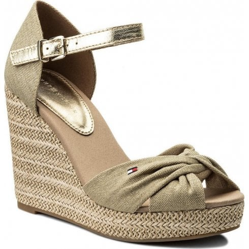 9a805ad1 Tommy Hilfiger Metallic Elena Wedge Sand - Millars Shoe Store