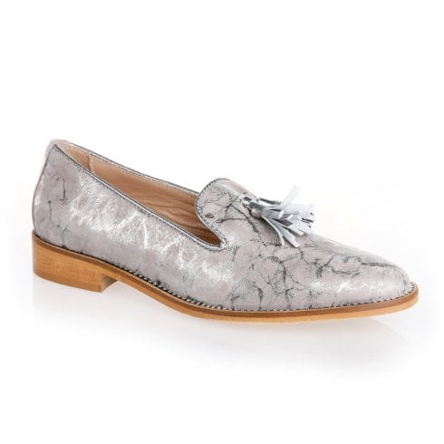 Nicola Sexton 4668G Silver Taupe Flat Loafers
