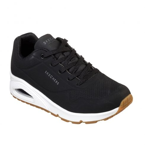 Skechers Womens Uno Stand on Air Sneakers - Black