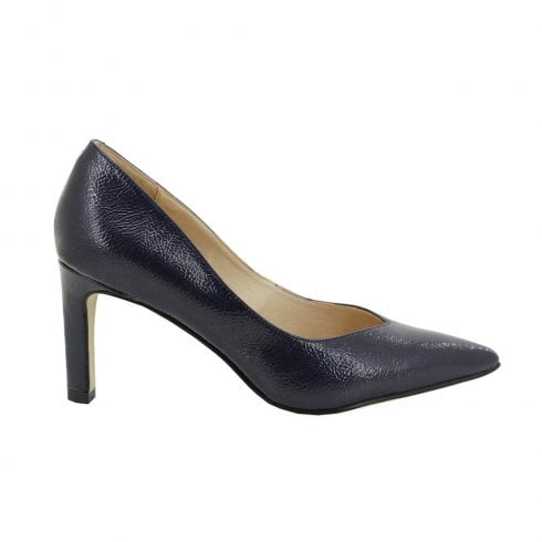 Fugitive Olympe High Heeled Pionted Court Shoes - Navy