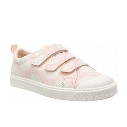 7351031c183c Clarks Girls City Flare Lo Junior G Velcro Trainers - Pink Combi   Millars  Shoe Store