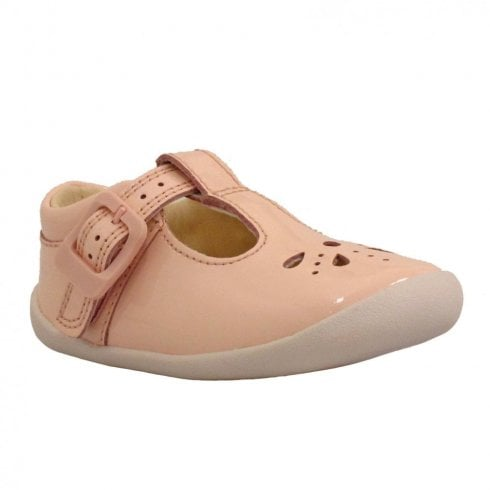 c7331f649 Clarks Girls Roamer Star F Toddler T-Bar Shoe - Blush Patent   Millars Shoe  Store