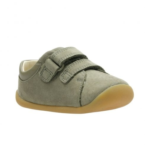 Clarks Boys Roamer Craft F Toddler Kids Suede Leather Shoes - Khaki