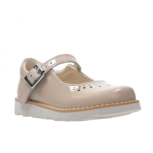 Clarks Crown Jump Mary Jane Toddler Shoes in Navy /& Pink Patent