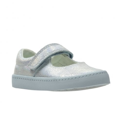 Clarks Girls City Gleam F Toddler Kids Leather Velcro Shoes - Blue Interest