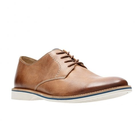 cheap wholesale outlet sale online Clarks Atticus Lace Mens Smart Shoes - Tan Leather / Millars Shoe ...