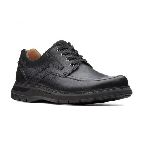 Clarks Un Ramble Lace Mens Casual Smart Shoes - Black Leather