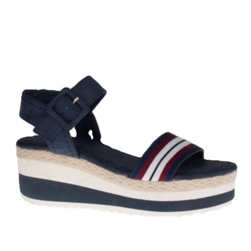 Escape Shoes Escape Pomona Flatforn Sandal - Navy