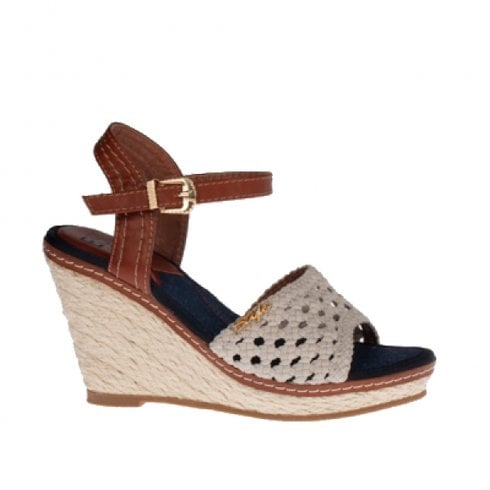 Escape Shoes Escape Mesa High Heeled Espadrille Summer Shoes - Stone/Tan