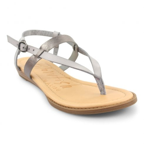 Blowfish Womens Berg Strappy Flat Sandals - Smoke