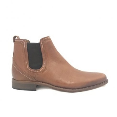 Escape Shoes Escape Austin Mens Pull On Chelsea Boot - Tumbled Caramel