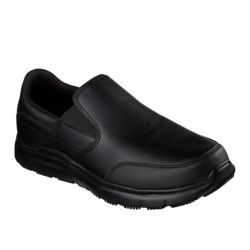Skechers Work Relaxed Fit: Flex Advantage SR Bronwood Slip On Sneakers - Black