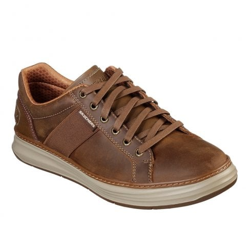 Skechers Mens Moreno Winsor 65984 Lace Up Sneakers Shoes - Tan/Brown