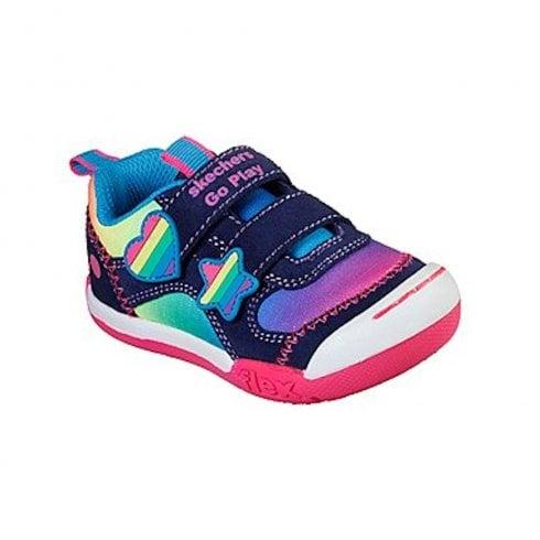 854b3734f03dc Skechers Kids Flex Play Rainbow Dash 82162N Velcro Sneakers - Navy Multi /  Millars Shoe Store