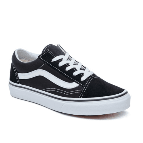 Vans Kids Classic Old Skool Lace Up Trainers Shoes - Black