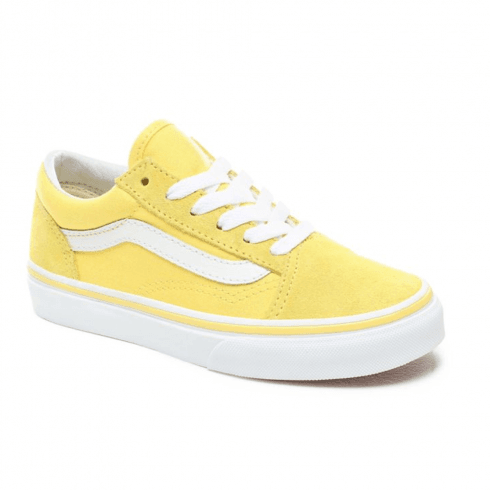 Vans Kids Old Skool Aspen Gold Lace Up Trainers Shoes - Yellow