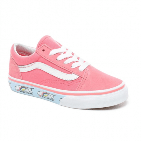 bf6ef9dbd27 Vans Kids Old Skool Unicorn Strawberry Pink Lace Up Trainers Shoes - Pink /  Millars shoe store