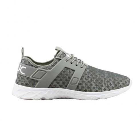 Hey Dude Women's Mistral Grey Melange Lace Up Traineers Shoes