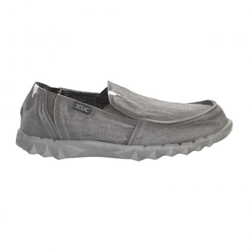 Hey Dude Men's Farty Washed Dark Grey Loafers