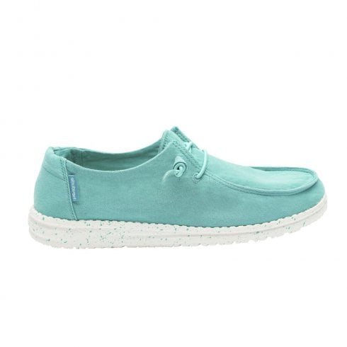 Hey Dude Women's Wendy Mint Comfort Lace Up Loafers - Turquoise