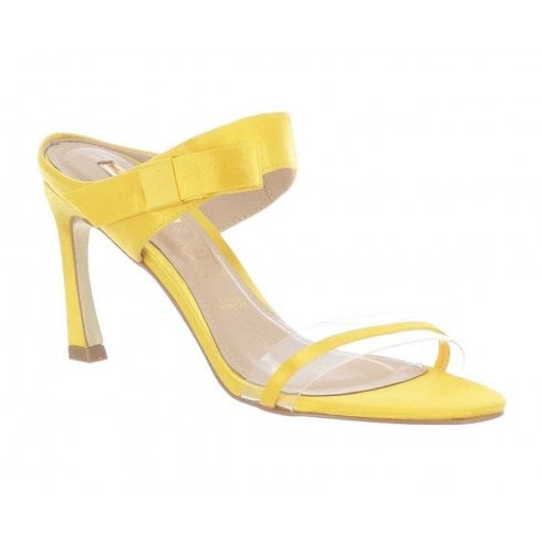 Glamour Selina Mid Heel Mule Sandal - Yellow