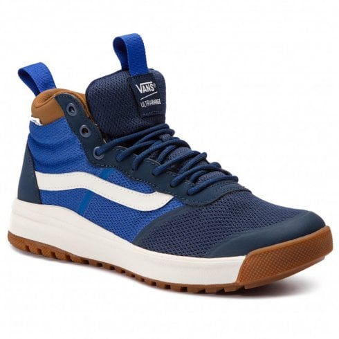 Vans Mens UltraRange Hi Dl Hi Top Sneakers - Dress Blues/Dachshund