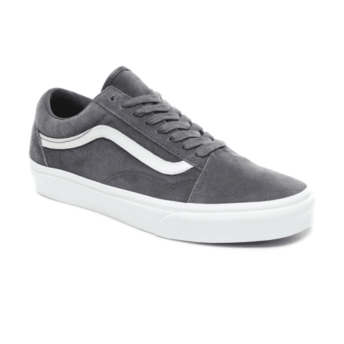 Vans Unisex Soft Suede Old Skool Low Top Sneakers - Ebony/True White
