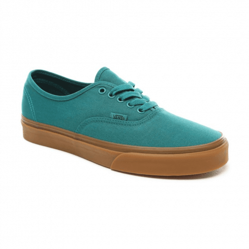 Vans Mens Authentic Low Top Trainers - Quetzal Green/Gum