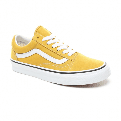 Vans Womens  Old Skool Low Top Sneakers - Yolk Yellow/True White