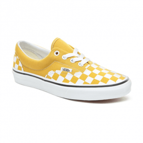 Vans Womens Checkerboard Era Low Top Trainers - Yolk Yellow/True White