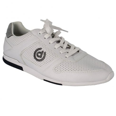 dbb1abebc09d41 Bugatti Mens White Leather Casual Sneaker Shoes - 321-73201   Millars Shoe  Store