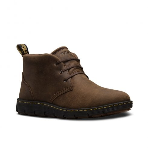 Dr. Martens Dr Martens Mens Backline Mid Casual Ankle Lace Up Boots - Brown Leather