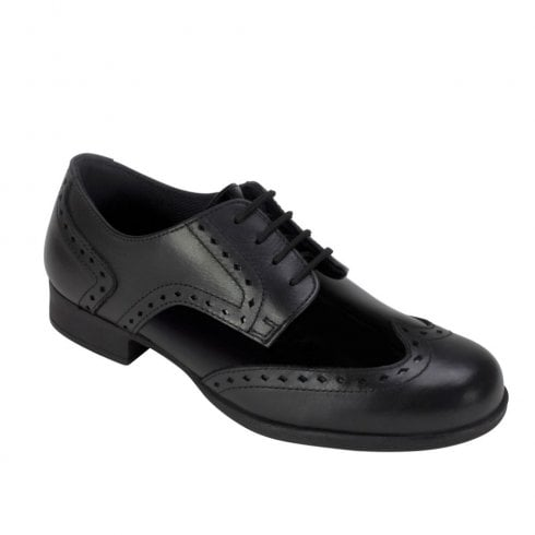 Term® Term Girls Meghan Black Patent Leather Brogue School Shoes