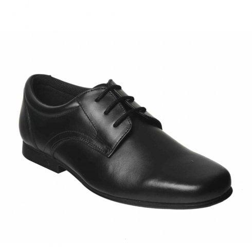 Term Boys Bedford Smart Lace Up School Shoes - Black Leather